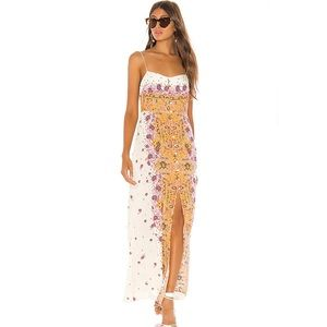 Free People Morning Song Maxi Dress in Ivory